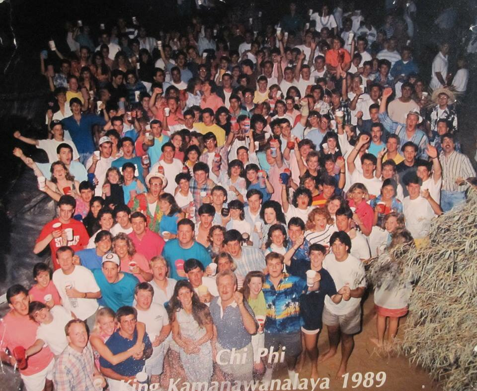 "Chi Phi King Kamanwanalaya Luau ""King Party"" 1989. TFM."