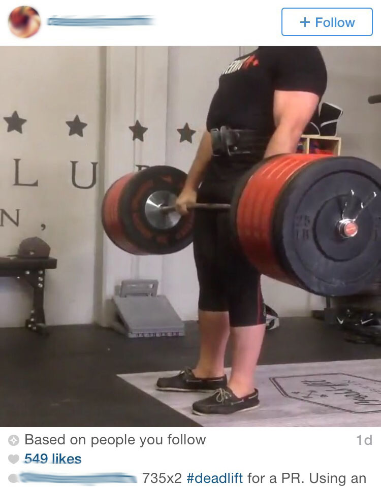 Deadlifting in boat shoes.