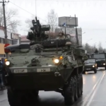U.S. Military Paraded A Bunch Of Vehicles Right Across The Russian Border, Cold War II At Its Finest