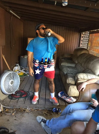 This guy's beer belt. TFM.