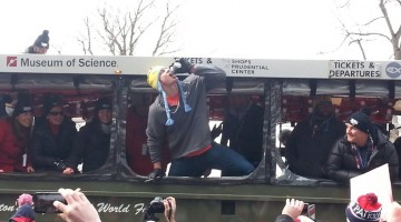 Chugging a beer during the middle of the celebratory parade. TFM.