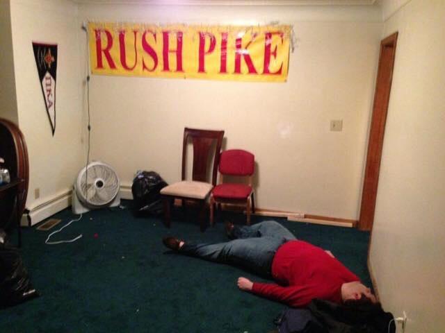 Man down. Rush Pike.