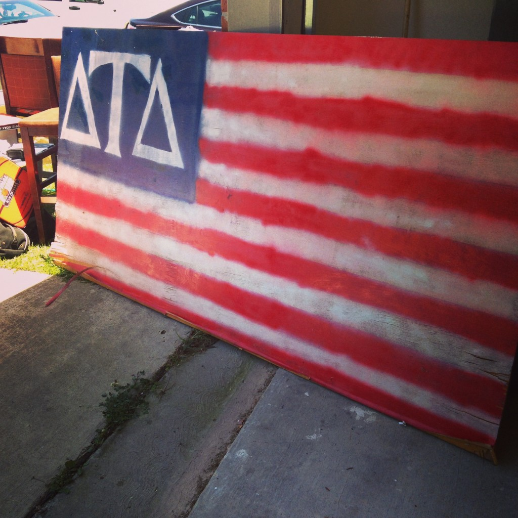 Merica' Beer Pong Table. TFM.