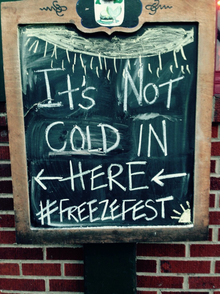 The bars taking full advantage of the cold weather. TFM.