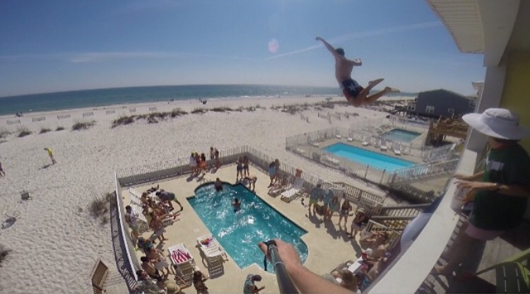 High Dive Into Pool Total Frat Move High Dive
