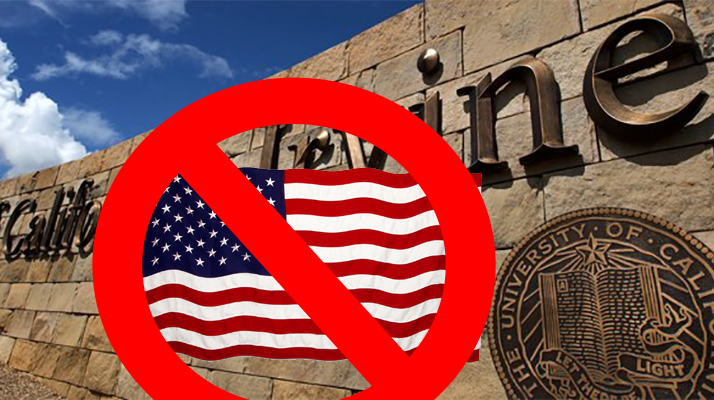 California Irvine Bans American Flag