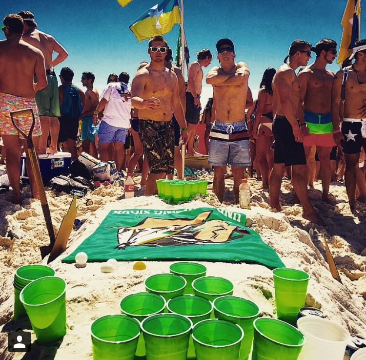 Beer pong on the beach. TFM.