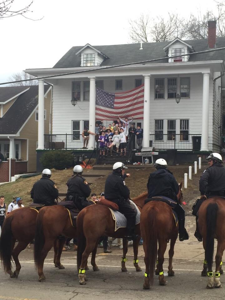 The stand off between the Calvary unit and your chapter after they shut down your party. TFM.
