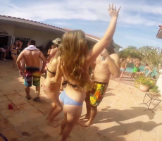 Sigma Chi At UC San Diego Held A Semi-Formal Involving An Enormous Slip-N-Slide
