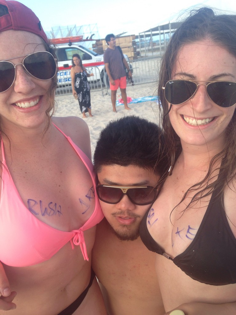 Rush boobs on the beach. TFM.