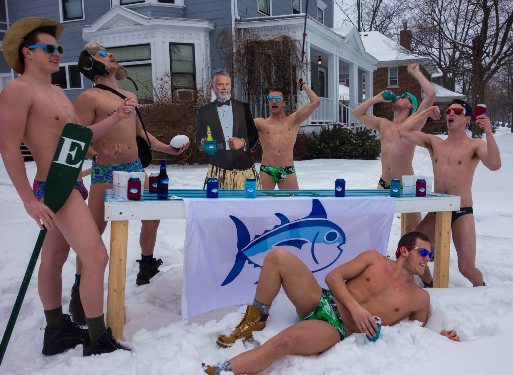 Seriously, what's with the speedos in the snow?