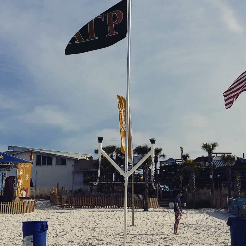 Staking your claim on the beach. TFM.