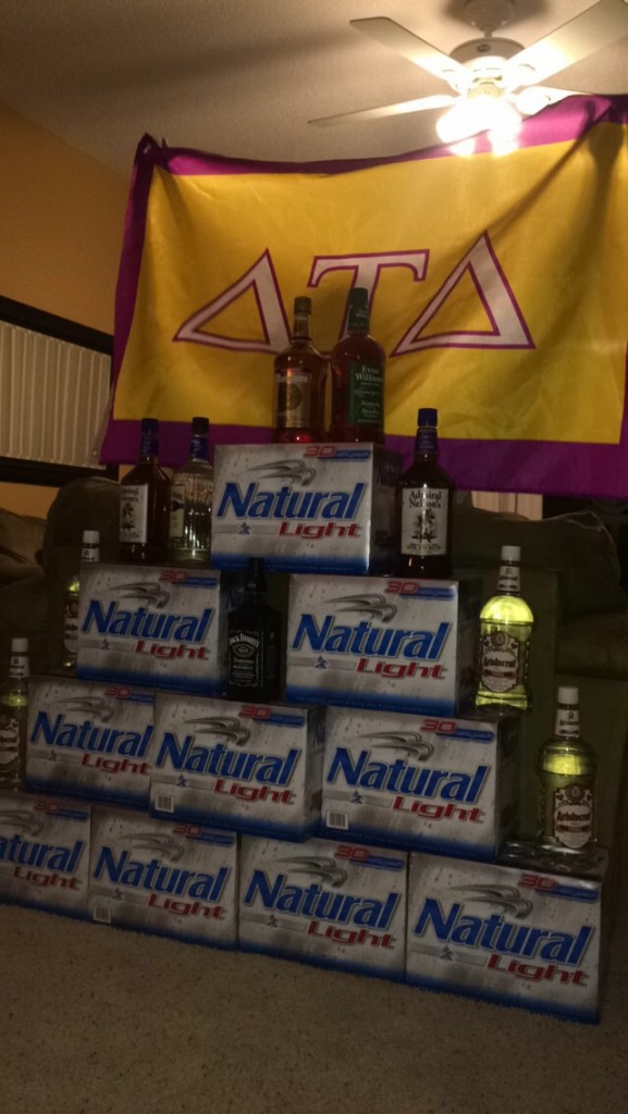 Turning your hotel room into a bar. TFM.