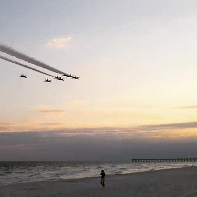 Beach fly by from the Blue Angels. TFM.