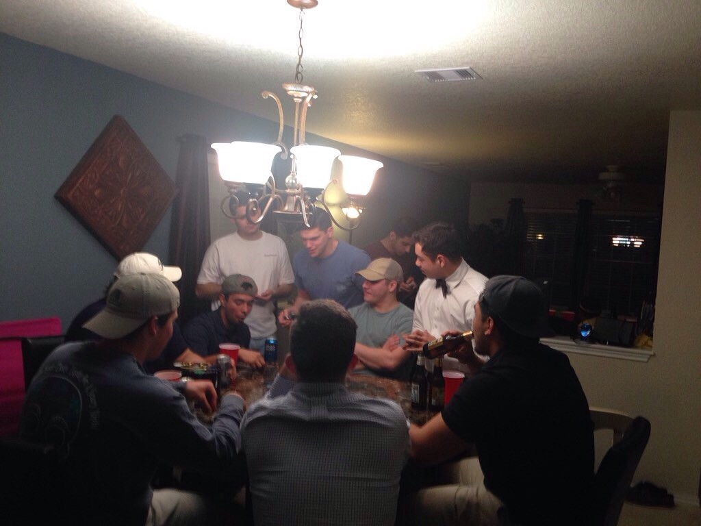 Using the pledges as dealers/bartenders for your poker game. TFM.