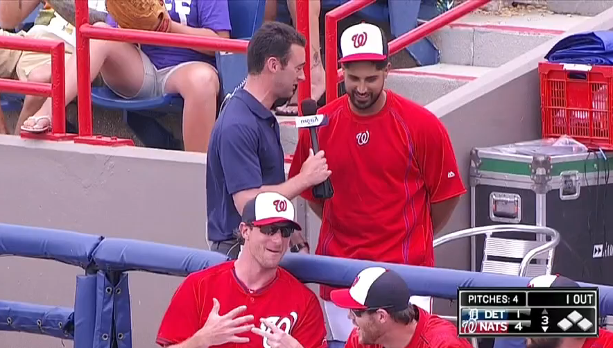 Gio Gonzalez Played The Meow Game During An In-Game Interview To Earn Some Free Cash