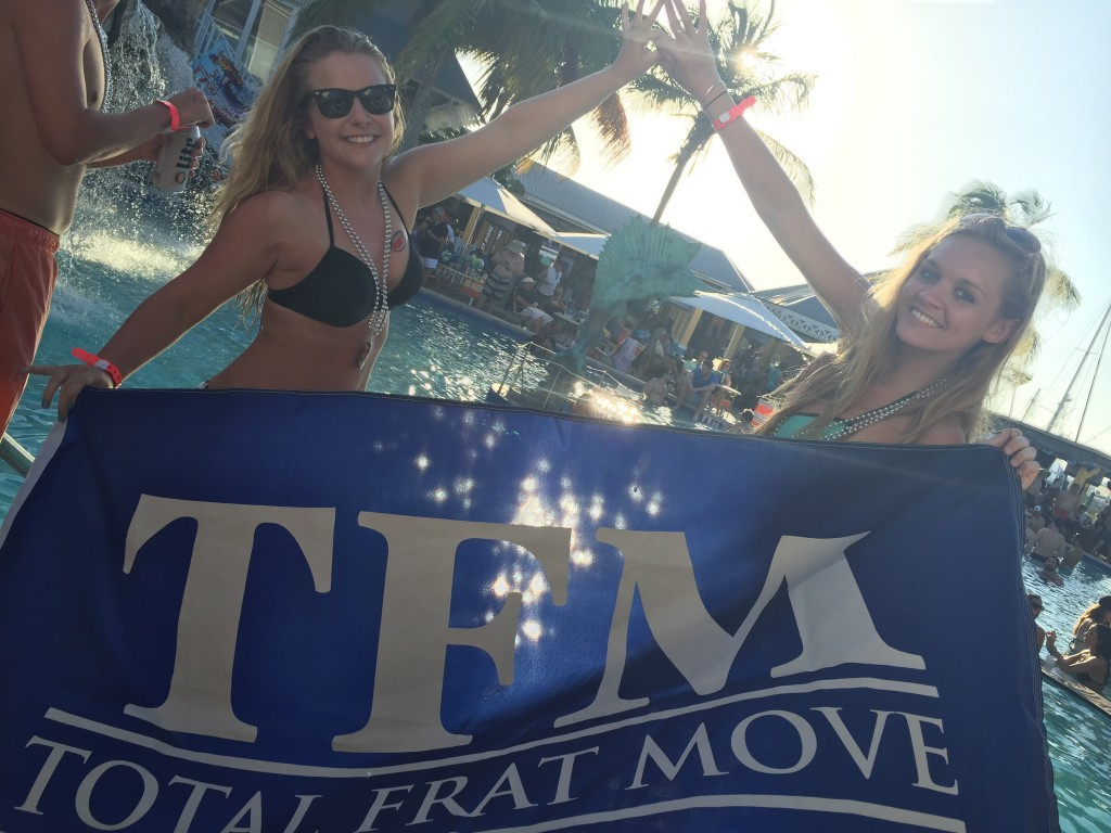 Sporting TFM at spring break. TFM.