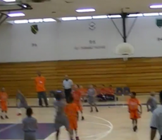 Kid Nails Backwards 3-Point Buzzer Beater, Already Knows It's Going In