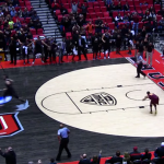 Massive Dunk Brings Takes Down The Hoop, Nearly Takes Off CMU Player's Head