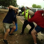 Getting a Turner Field security guard to shotgun a beer with you while he's on duty. TFM.
