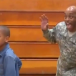 Soldier Returns Home, Surprises Son By Photobombing His School Picture