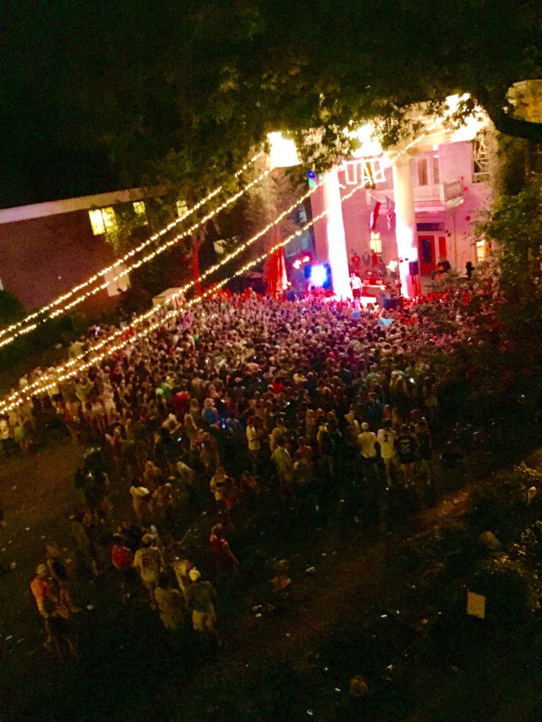 SigEp at UGA raging with Roscoe Dash. TFM.