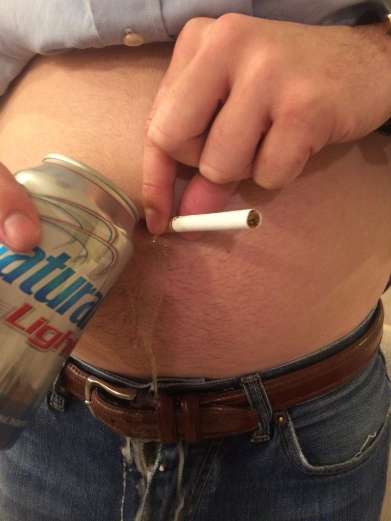Will you people stop trying to get your belly buttons drunk?