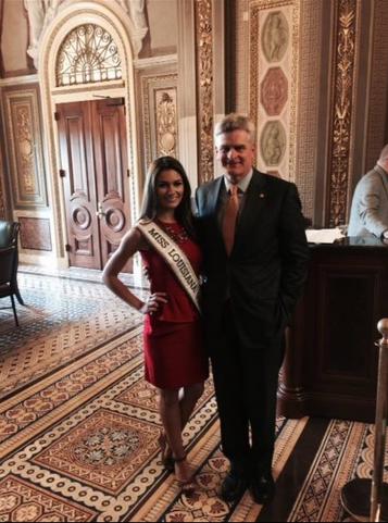 Republican Senator Bill Cassidy utilizing his occupation to meet Miss Louisiana. TFM.