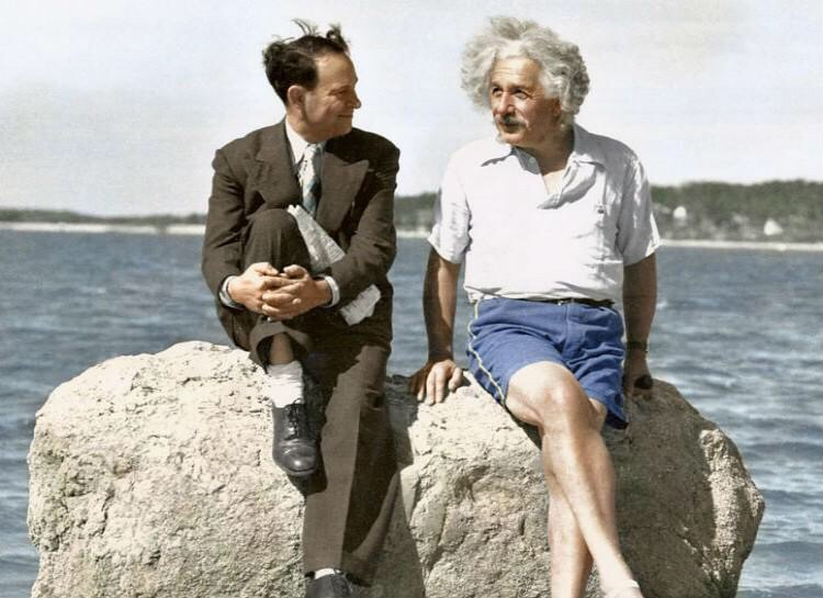 Albert Einstein rocking the 5 inch inseams. TFM.