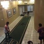 Practicing the long putt in the house. TFM.