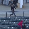 Idiot Indians Fan Loses Beer And Phone To Get Foul Ball In Nearly Empty Section