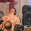 Drunk And Shirtless Darko Milicic Sings Karaoke, Chugs Beer With No Hands