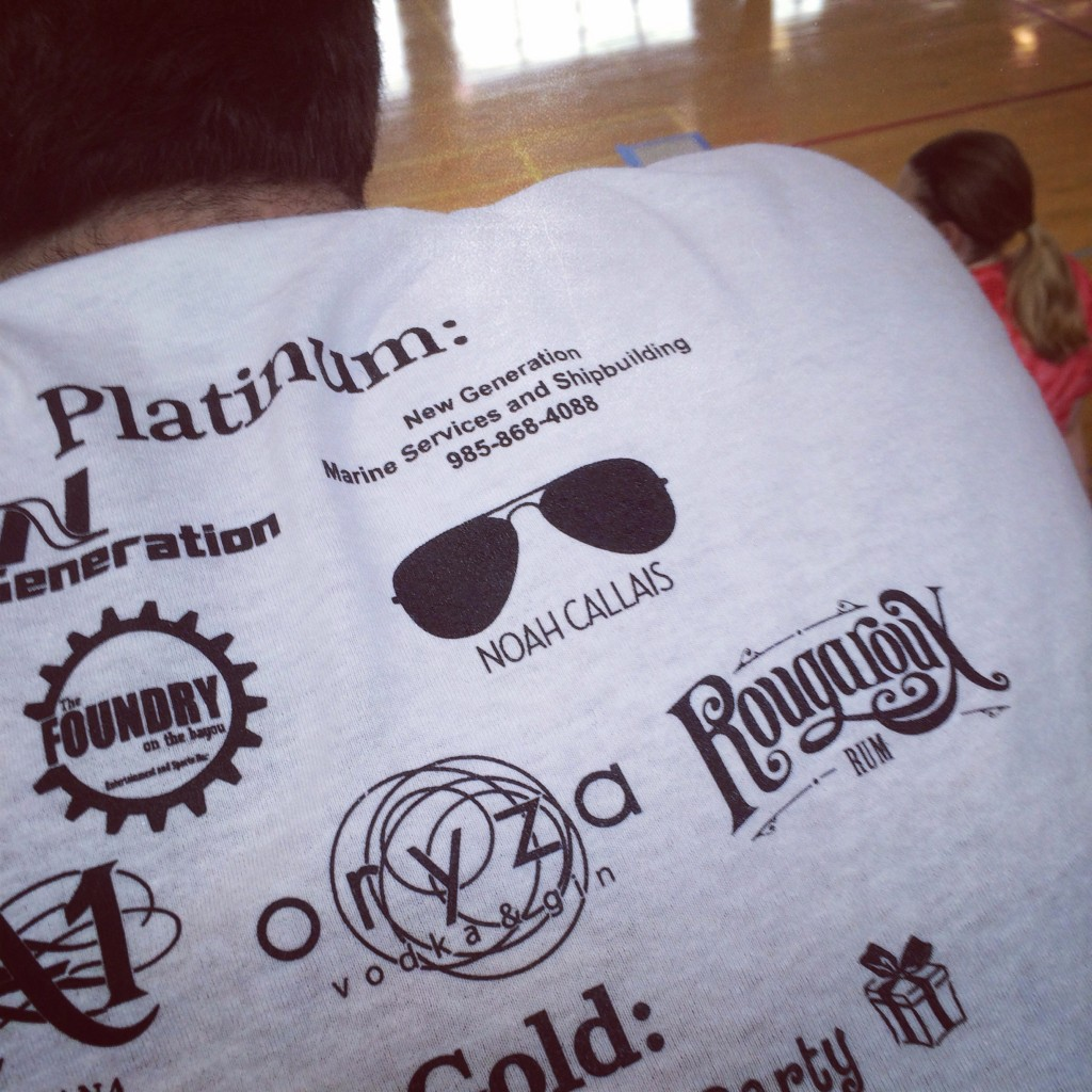 Being a platinum sponsor for your own fraternity's philanthropy event. TFM.