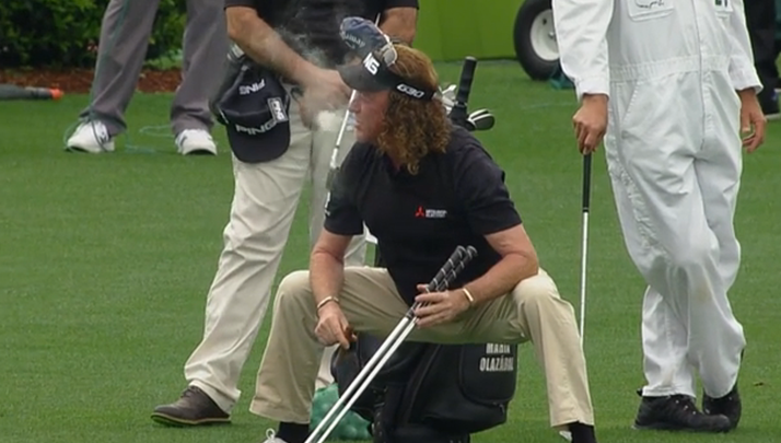 Miguel Angel Jiminez Has An Awesome Masters Warmup And I'm Now Putting All My Money On Him