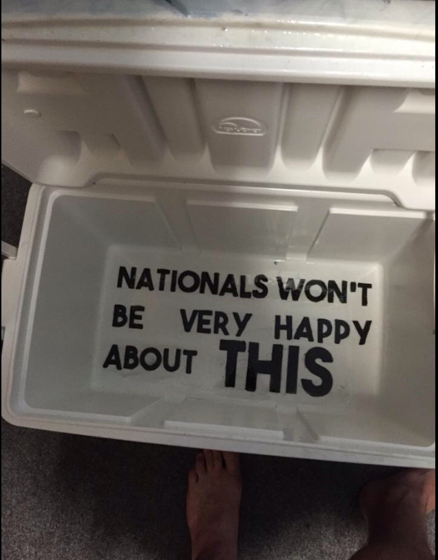 """""""Nationals won't be very happy about this."""" TFM."""