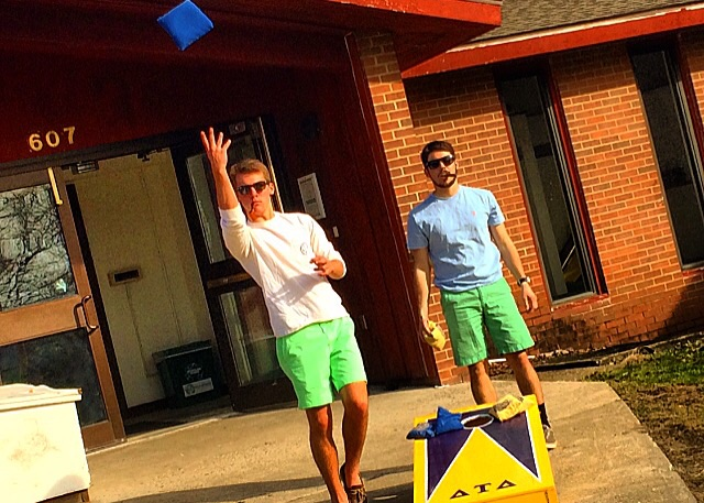 Starting spring with a round of cornhole. TFM.