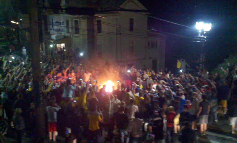 Morgantown Bans Outdoor Furniture Because WVU Students Keep Burning Them  After Games