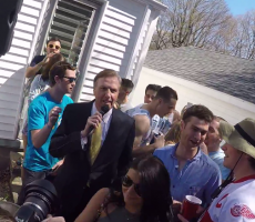 President Of Quinnipiac University Flexes Rich Nuts In Front Of Thousands Of Students