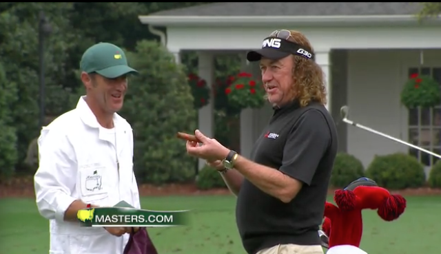 Miguel Angel Jimenez starting the day off right. TFM.