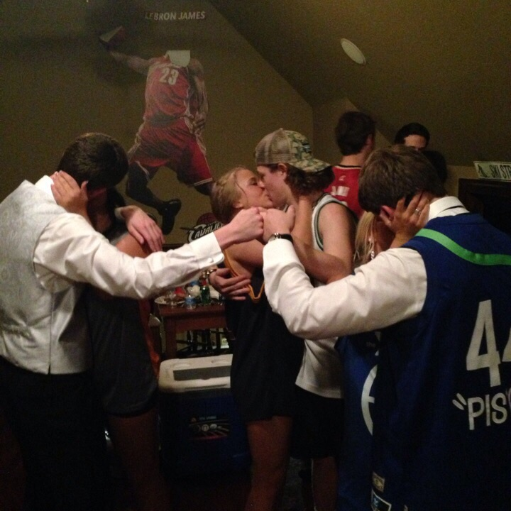 Congratulating your brothers while simultaneously getting some. TFM.