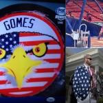 Jonny Gomes' non-stop patriotism. TFM.