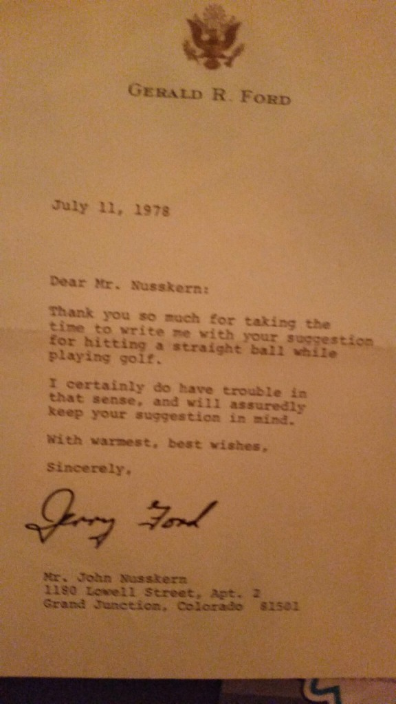 Grandpa giving President Ford golf advice. TFM.