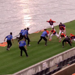 Clemson And Duke Baseball Gets Rained Out, So They Play Pickup Football Instead