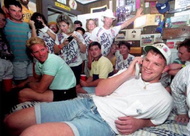 Brett Favre when he got drafted. TFM.