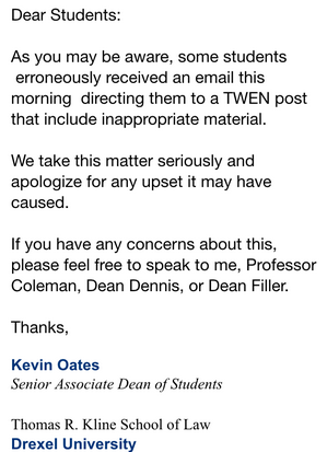Dean-Kevin-Oates-email-re-inappropriate-material