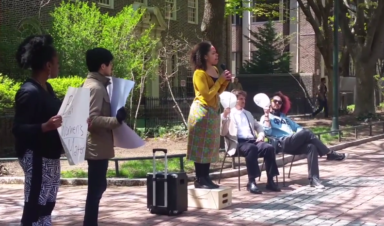 Student Group Protests Outside Penn Phi Delt By Holding Faux Slave Auction