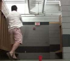 Guys Pull Off Some Crazy Beer Pong Shots