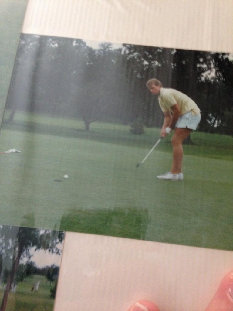 Pops golfing circa '84. TFM.