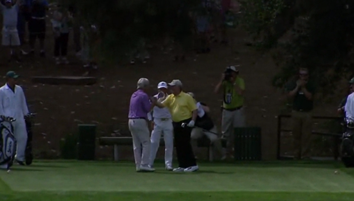 VIDEO- Jack Nicklaus Nails A Hole-In-One At Masters Par 3 Contest