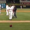 Minor League Coach Placekicks Cap After Being Tossed From Game